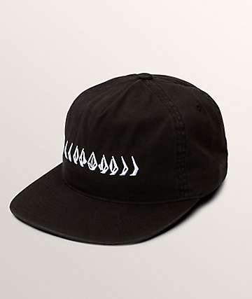 Volcom Stone Cycle Black Strapback Hat