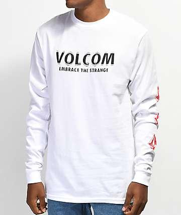 Volcom Stranger White & Red Long Sleeve T-Shirt