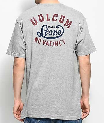 Volcom Strike camiseta en gris jaspeado con bolsillo