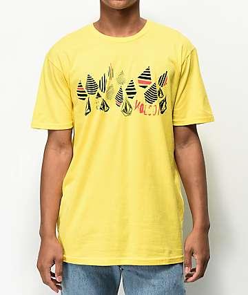 Volcom Stripe Stone Yellow T-Shirt