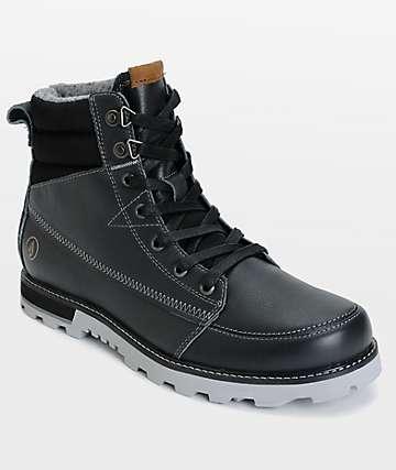 Volcom Sub Zero Gunmetal botas de cuero