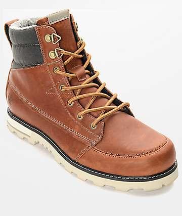 Volcom Sub Zero Rust Brown Premium Leather Boots