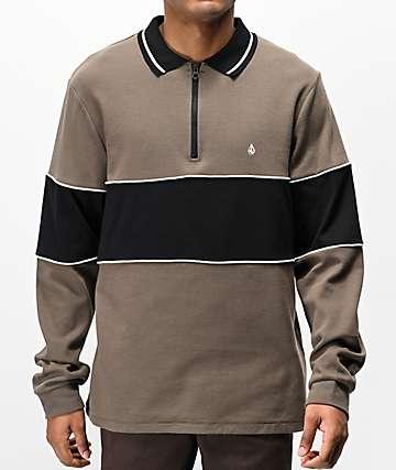 Volcom Thrifter Mushroom Long Sleeve Polo Shirt