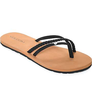 Volcom Thrills Black Sandals