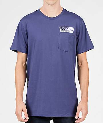 Volcom Truckin Pocket Blue T-Shirt