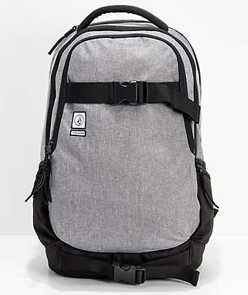 Volcom Vagabond Stone Grey & Black Backpack