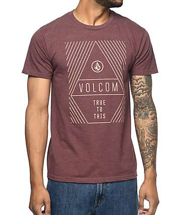 Volcom Vanish Burgundy T-Shirt