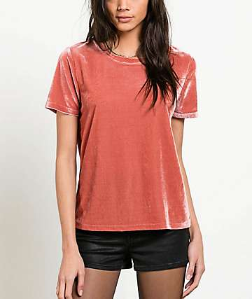 Volcom Velour You In Coral T-Shirt