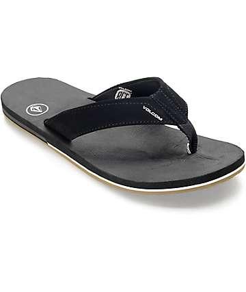 94dfc8fa2ba Volcom Victor Black   Gum Sandals