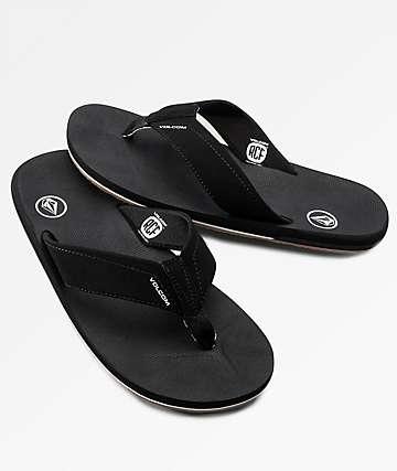Volcom Victor Black & Black Sandals