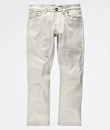 Volcom Vorta DWH Dirty jeans ajustados en blanco