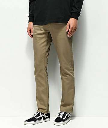 Volcom Vorta Slub Grain Khaki Denim Jeans