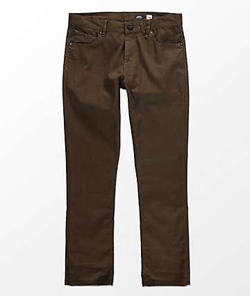 Volcom Vorta Slub pantalones con cinco bolsillos