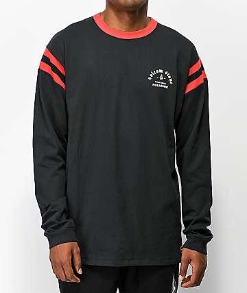 Volcom Wagners Black & Red Long Sleeve T-Shirt