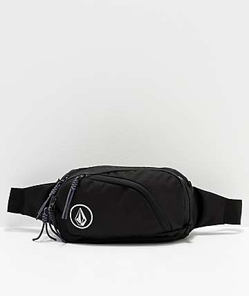 Volcom Waisted Black Fanny Pack