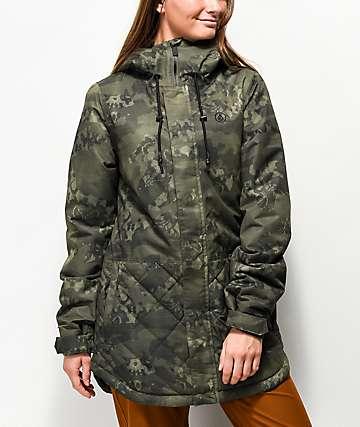 Volcom Winrose 10k chaqueta de snowboard de camuflaje