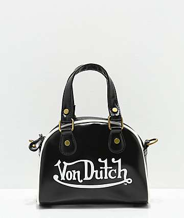 Von Dutch Black Bowling Bag Purse