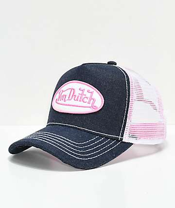 Von Dutch Pink & Navy Trucker Hat
