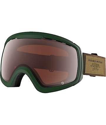 Von Zipper Feenom S.I.N. Green Persimmon Snowboard Goggles