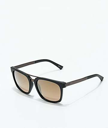 Von Zipper Plimpton Black Satin & Rust Sunglasses