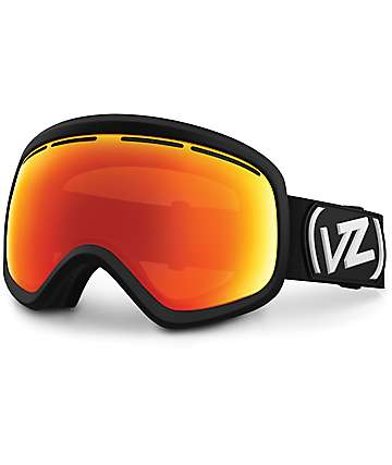 Von Zipper Skylab Black Satin & Fire Chrome máscara de snowboard
