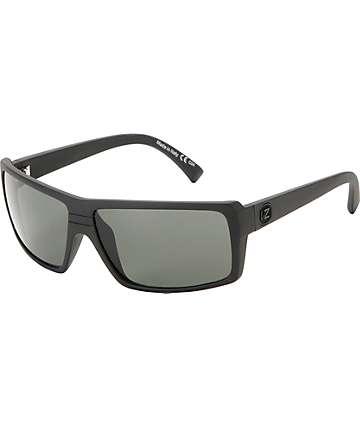 Von Zipper Snark gafas de sol en negro satén y lentes grises