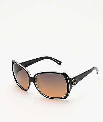 Von Zipper Trudie Black Crystal & Bronze Gradient Sunglasses