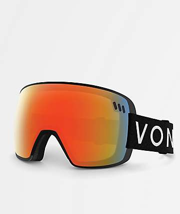 VonZipper Alt XM Black Satin Fire Chrome Snowboard Goggles