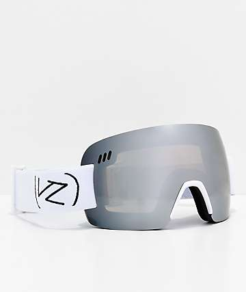 VonZipper Alt XM Wildlife White Satin Chrome Snowboard Goggles