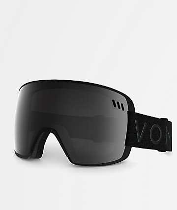 VonZipper Alt XM gafas de snowboard en negro satinado y cromo
