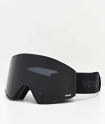 VonZipper Capsule Black Satin Blackout gafas de snowboard