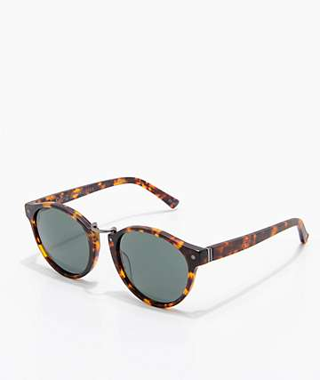 VonZipper F.C.G. Stax Satin Tortoise & Green Sunglasses