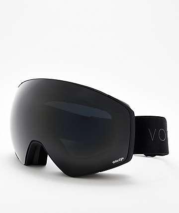 VonZipper Jetpack Blackout gafas de snowboard en negro satinado