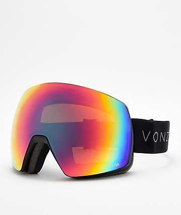 VonZipper Satellite Wildlife gafas de snowboard en negro satinado