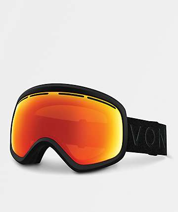 VonZipper Skylab 2018 gafas de snowboard en negro satinado y cromo rojo