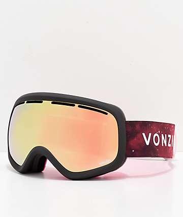 VonZipper Skylab B4BC Gold Chrome Snowboard Goggles