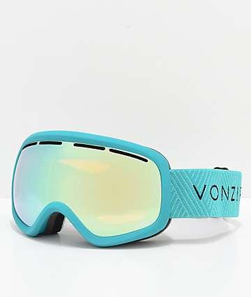 VonZipper Skylab Mint Satin Stellar Chrome Snowboard Goggles