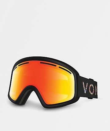 VonZipper Skylab gafas de snowboard en negro satinado y cromo rojo