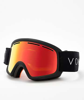 VonZipper Youth Trike Fire Chrome Black Satin Snowboard Goggles