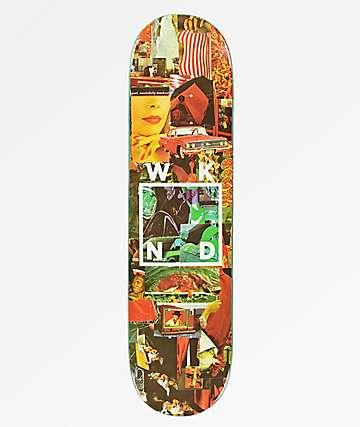 "WKND Collage Logo 8.0"" tabla de skate roja"