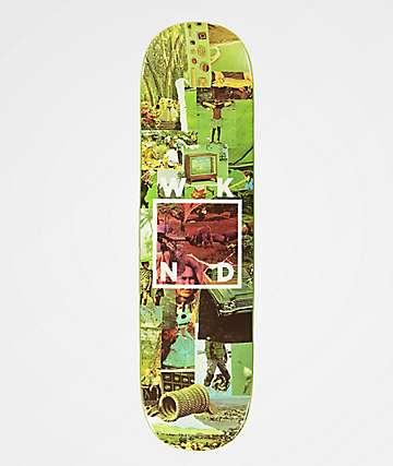 "WKND Collage Logo 8.25"" tabla de skate verde"