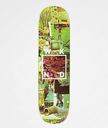 "WKND Collage Logo Green 8.25"" Skateboard Deck"