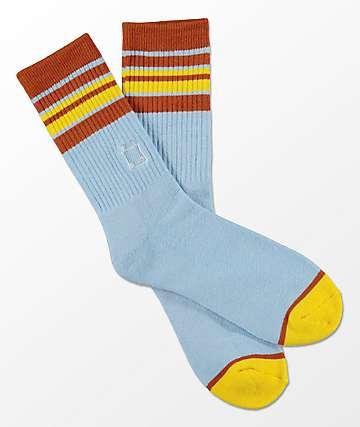 WKND Light Blue Striped Crew Socks