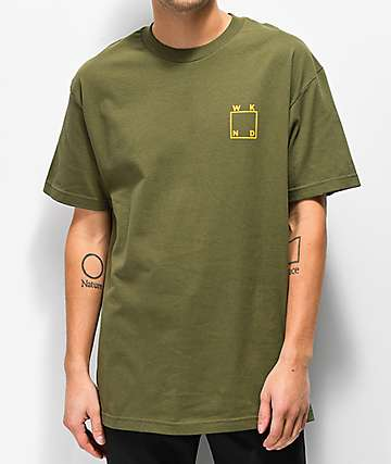 WKND Logo Military Green T-Shirt