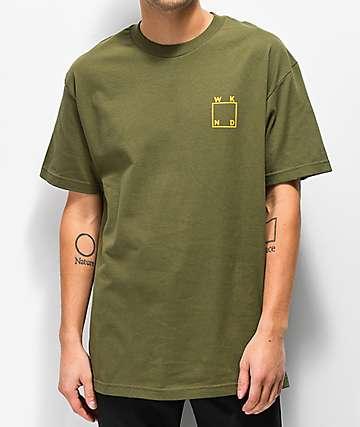 WKND Logo camiseta verde militar