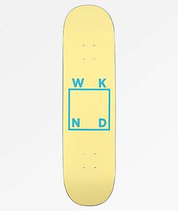 "WKND Square Logo 8.125"" Cream Skateboard Deck"
