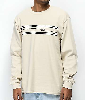 WKND Stripes Sand Long Sleeve T-Shirt