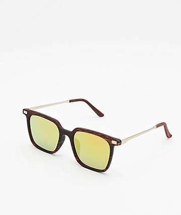 Wayfarer Brown Wood Grain Sunglasses