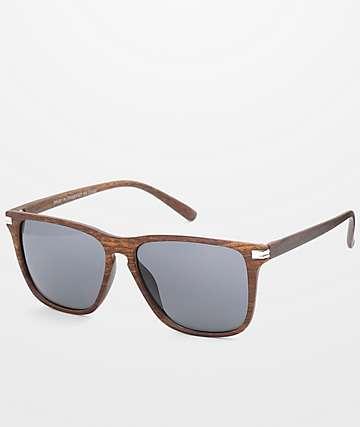 Wayfarer gafas de sol de madera oscura falsa