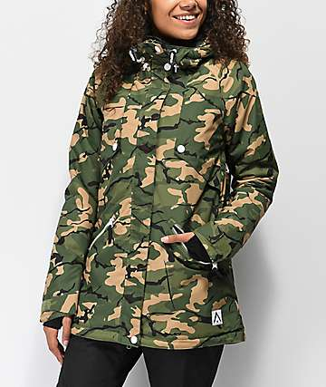 Wear Colour Flare Forrest Camo 10K Snowboard Jacket